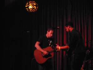 Stephen & Mike of Passenger at the Hotel Cafe