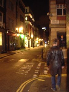 walking the streets of London